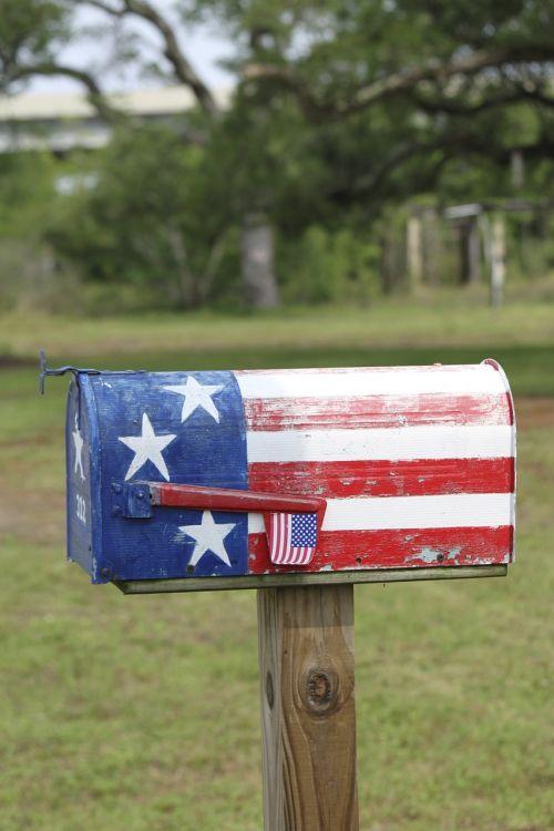 mailbox letterbox patriotic