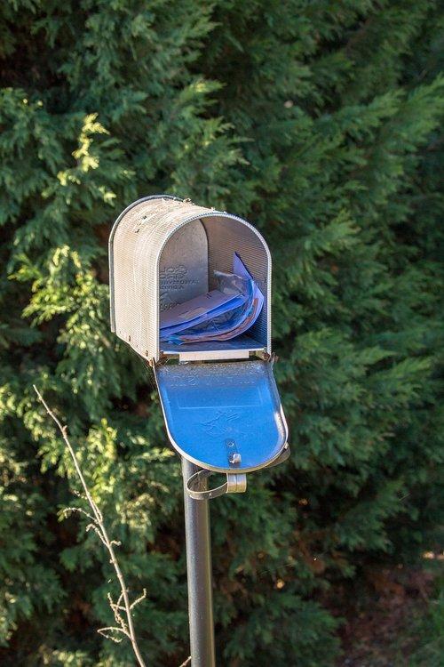 mailbox  post  metal