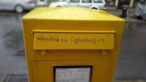 mailbox love letter post