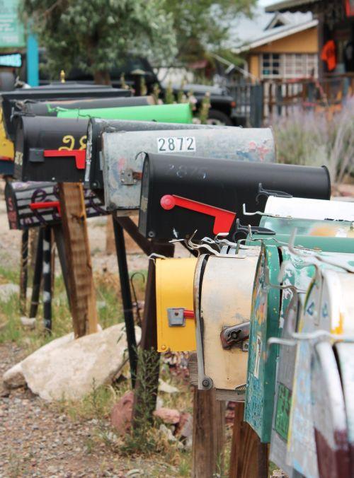 mailbox madrid new mexico retro