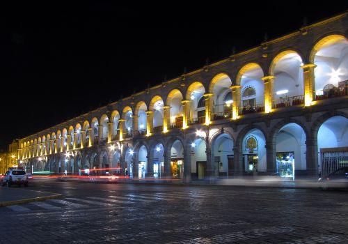 main square arcade arequipa