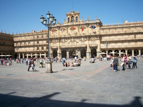 main square salamanca historic centre