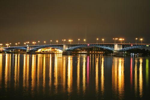 mainz theodor heuss bridge night photography