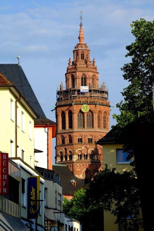 Majesco katedra, Dom, Mainz, miestas, architektūra, orientyras, pastatas, bažnyčia, katedra, katalikų, smėlio akmuo, istoriškai, Senamiestis, įvestis, Viduramžiai, Romos katalikų, bischoff, lankytinos vietos, istorinis išsaugojimas, minios surinkėjas, įvedimas, sublime, milžiniškas