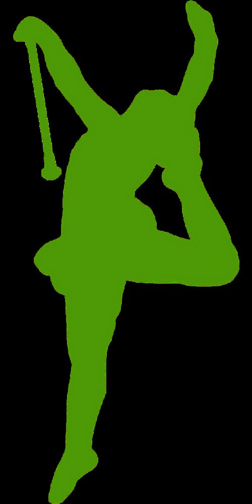 majorette dancer silhouette