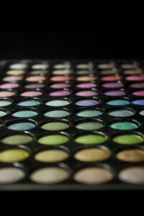 makeup palette colorful