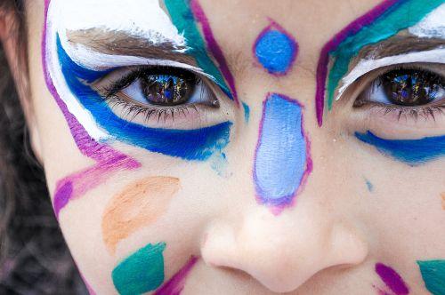 makeup little girl festival