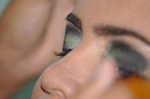 makeup olive green beauty