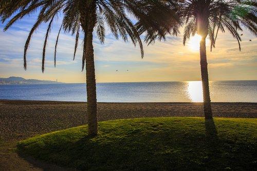 malaga  spain  beach