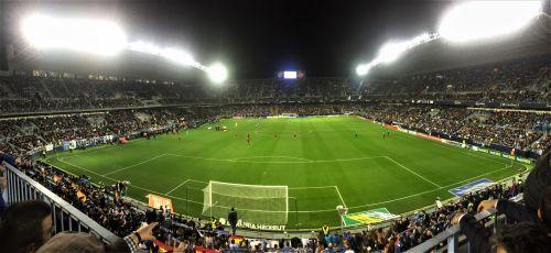Malaga Vs Barcelona In La Roseleda