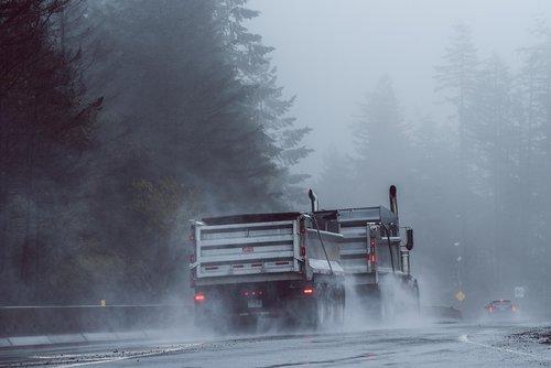 malahat  truck  fog