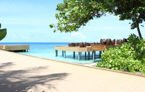 maldives beach seating arrangement
