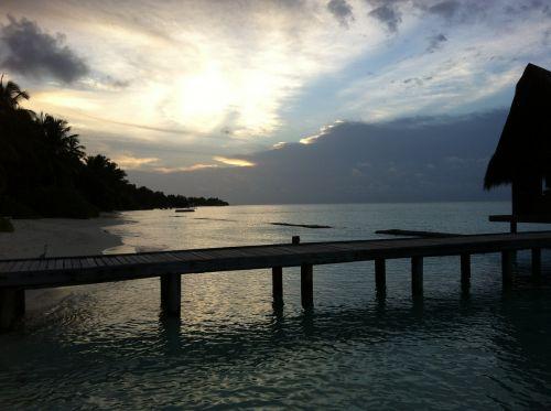 maldives hotel landscape