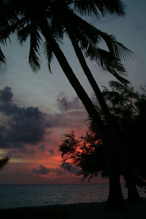 maldives beach sunset