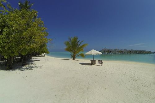 maldives beach idyll