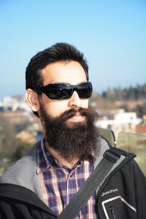 male beard young