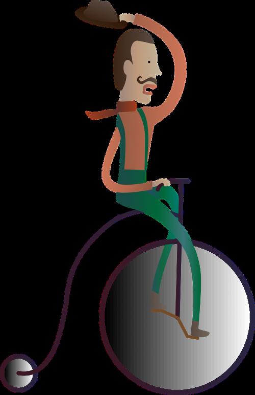 male cyclist cycling