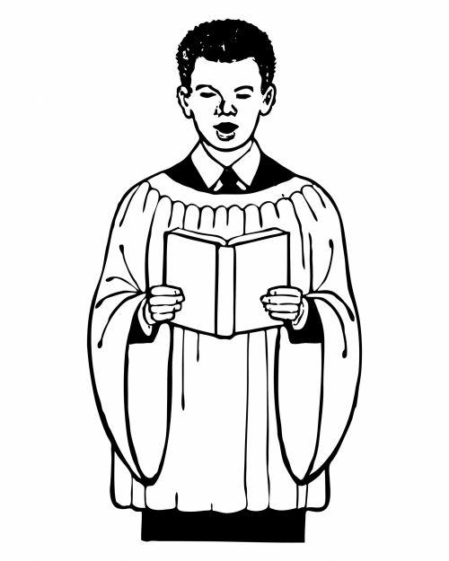 Male Choir Singer Clipart