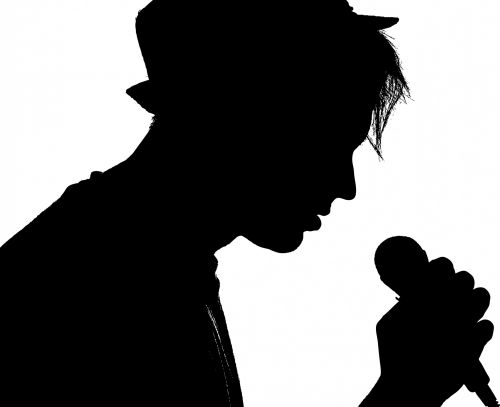 Male Singer Portrait Silhouette