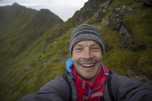 Male Tourist Taking Selfie