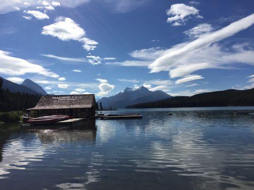 maligne lake canada lake