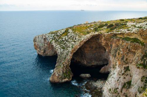 malta blue grotto water