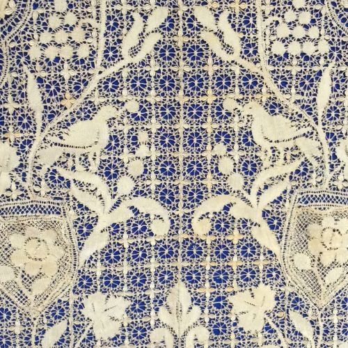 maltese side made in silk 19th century
