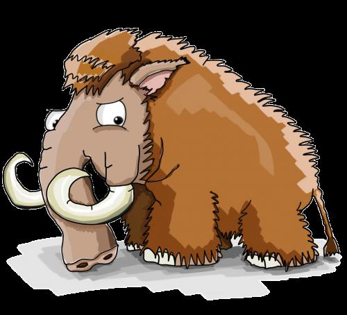 mammoth cool cartoon