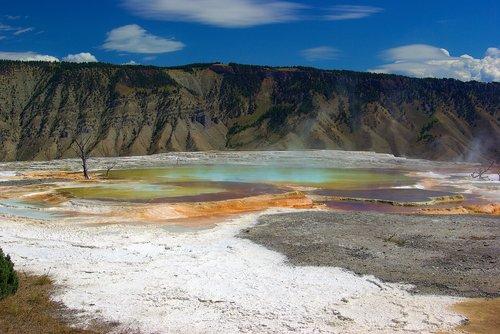 mammoth hot springs  springs  thermal