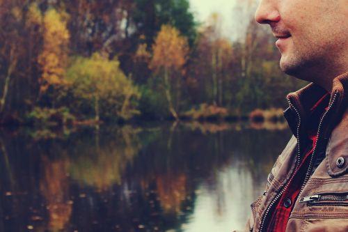 man autumn landscape
