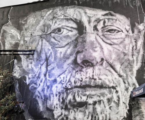 man wall urban art