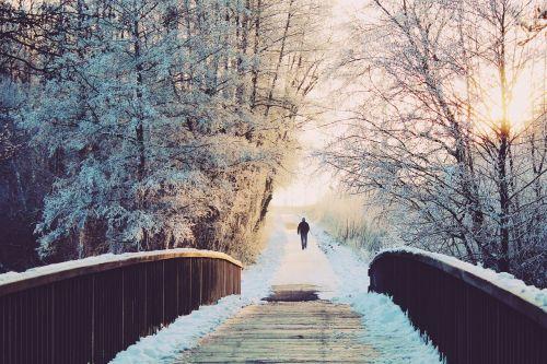man bridge lonely