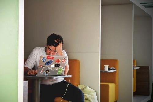 man boy laptop