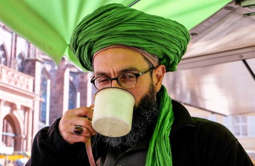 man turban portrait