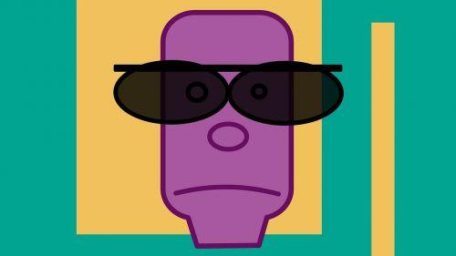 man green violet
