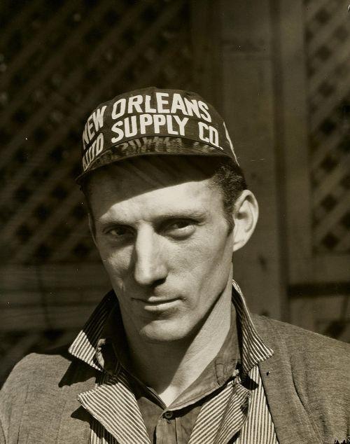 man mechanic hat