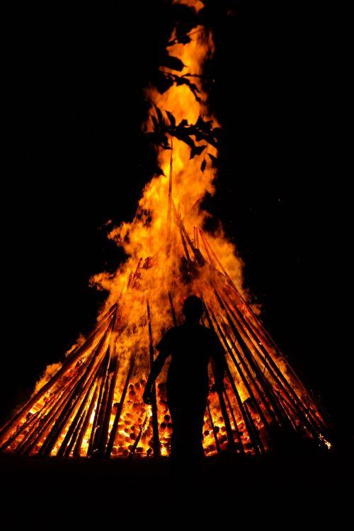 man human fire