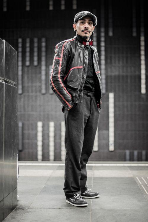 man standing portrait