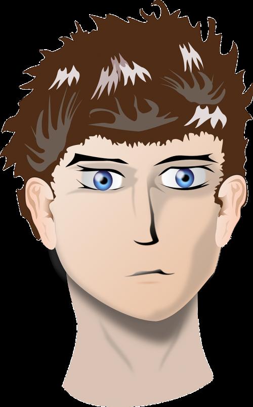 man head face