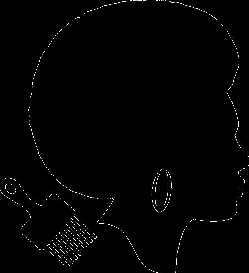 man profile afro