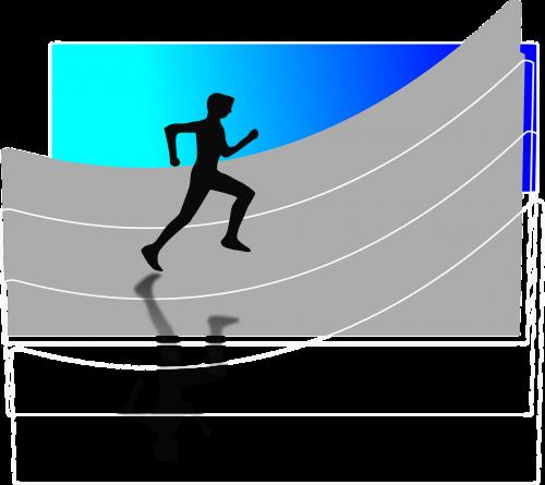 man running athlet