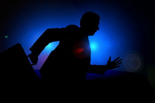 man silhouette businessman