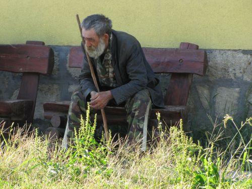 man sitting moody
