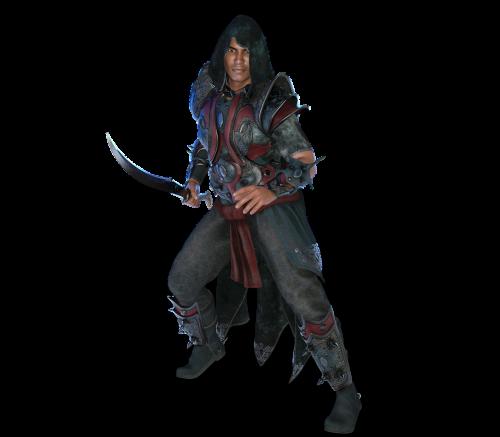 man knight fighter