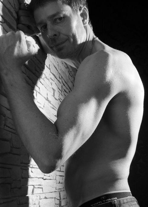 man muscular naked