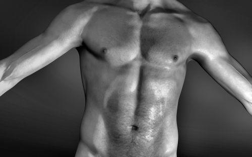 man breast navel