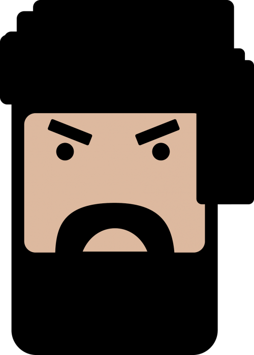 man beard angry