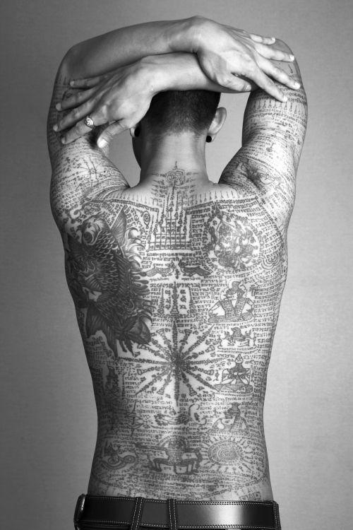 man tattoo thai