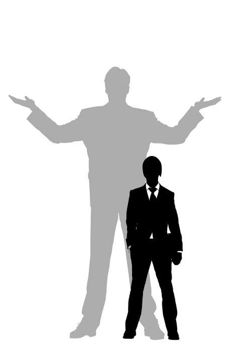 man silhouette banker