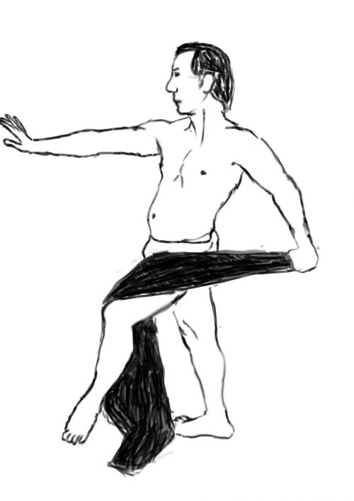 man pose drawing